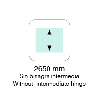 HASTA 2650mm DE ALTO SIN BISAGRA INTERMEDIA