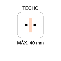 MAX. THICKNESS 40mm CEILING MOUNT