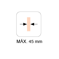 MAX. THICKNESS 45mm