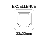 PERFIL SUPERIOR EXCELLENCE 33x33mm