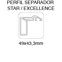 ESSENTIAL PERFIL SEPARADOR STAR / EXCELLENCE 49x43